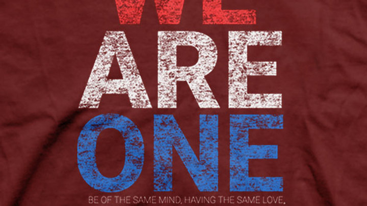 We Are One Patriotic Red T-Shirt