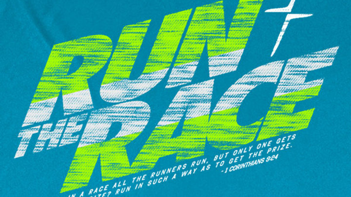 Kerusso Active Run The Race Men's T-Shirt
