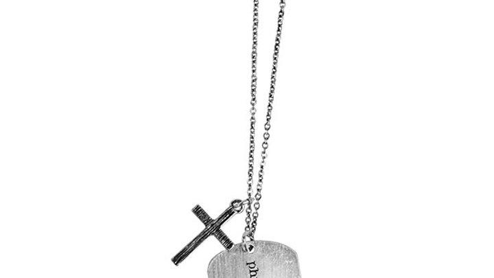 Faith Gear® Blessed Womens Dogtag Necklace