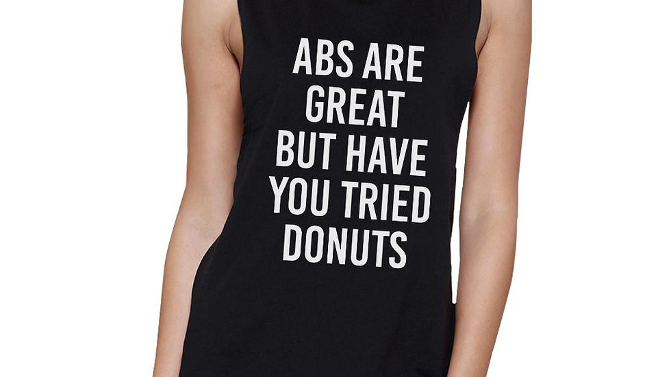 Abs Are Great Womens Black Muscle Tanks Funny Gym Shirts Gift Ideas