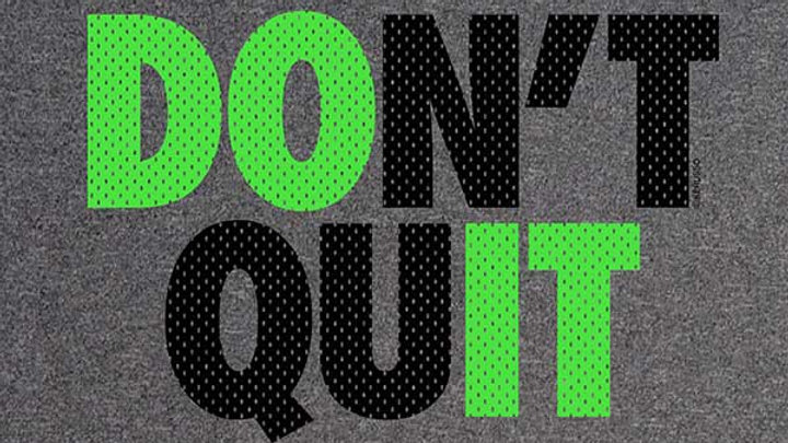 Kerusso Active Mens T - Don't Quit