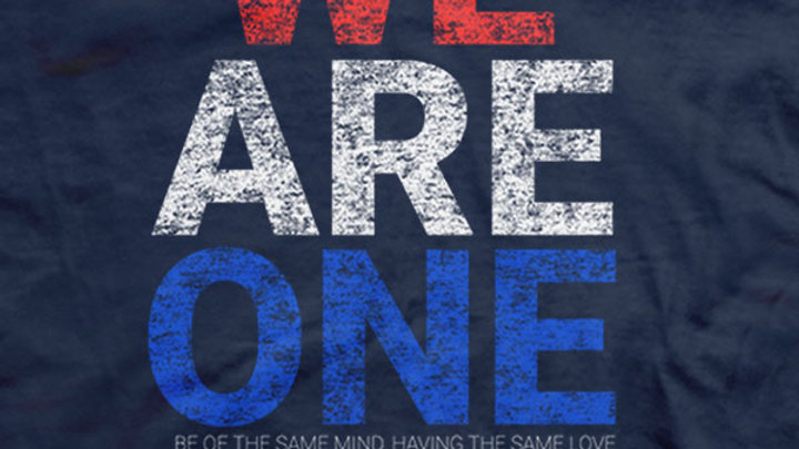 We Are One Patriotic Navy T-Shirt