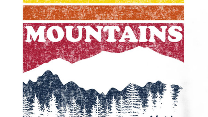 Mountain Stripes Raglan T-shirt