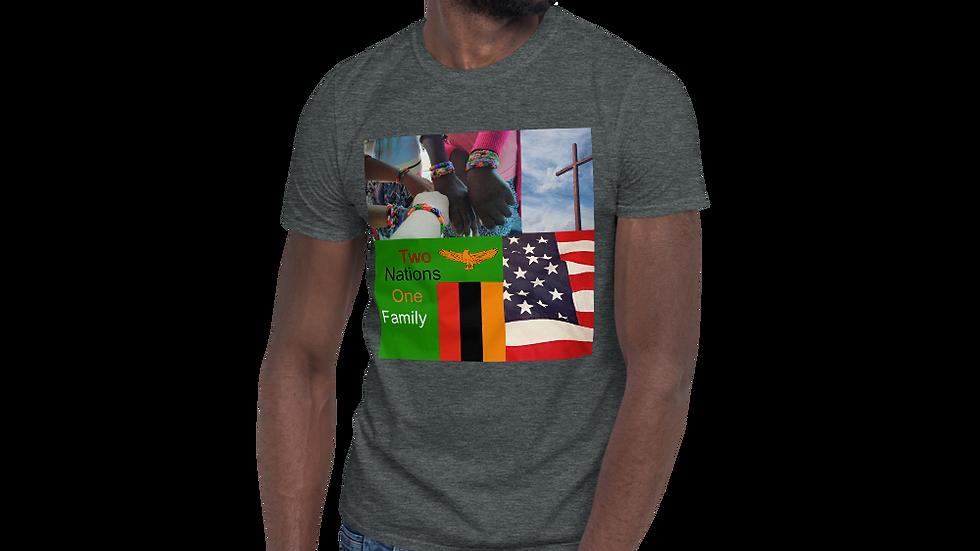 Zambia-USA-Short-Sleeve Unisex T-Shirt