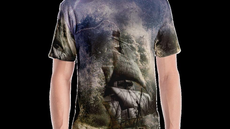 Jesus Calms the Storm-Men's T-shirt-All over print