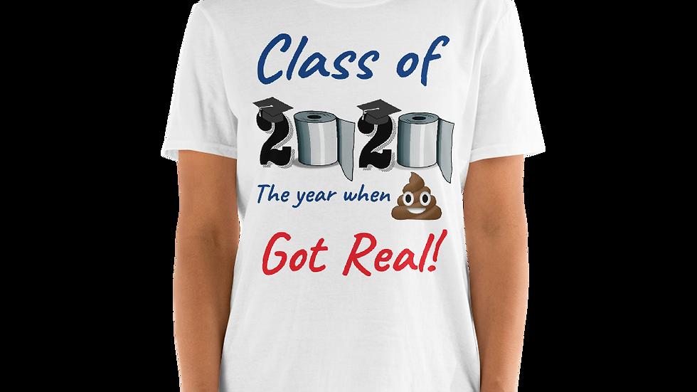 Class of 2020- Blue/Red- Short-Sleeve Unisex T-Shirt