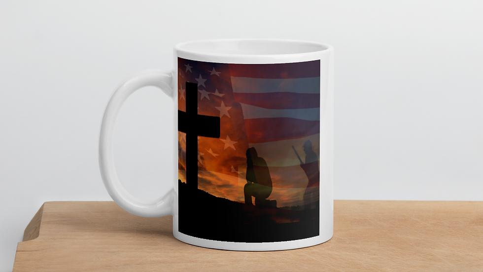 Stand for flag, kneel for the cross- Mug