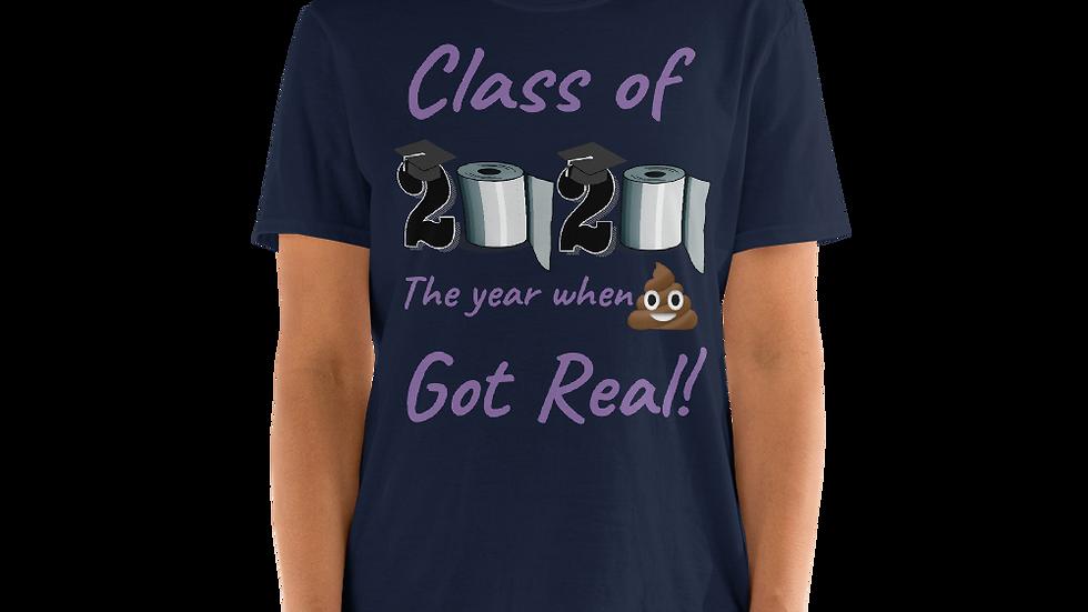 Class of 2020- Purple- Short-Sleeve Unisex T-Shirt