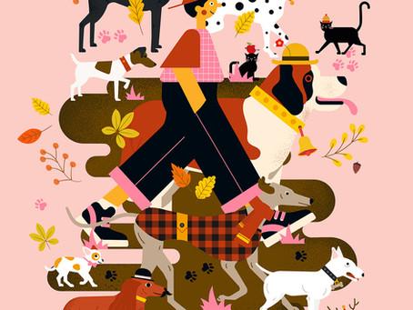 Le promeneur et les chiens