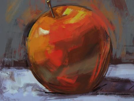 Peindre une pomme  en touches épaisses dans Photoshop