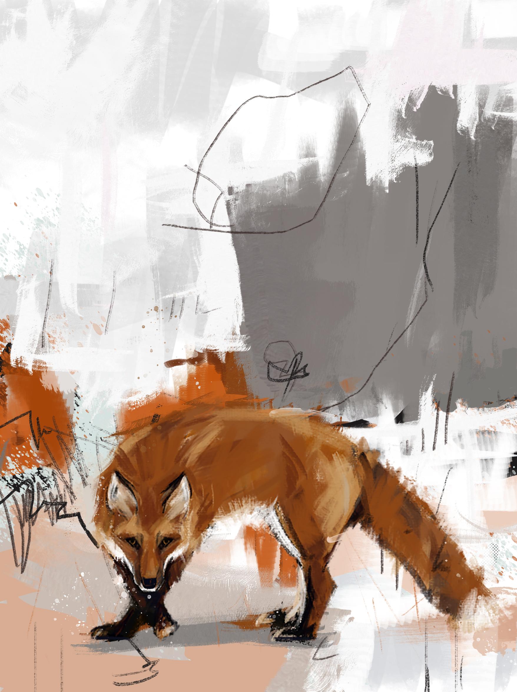 abstrait renard 1