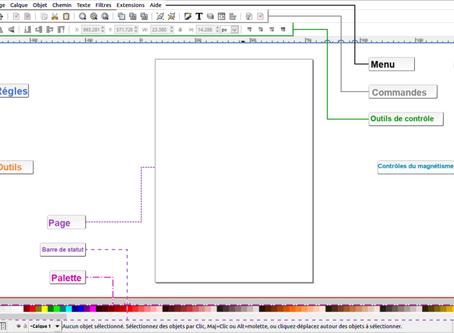 Interface INKSCAPE et LES BASES.