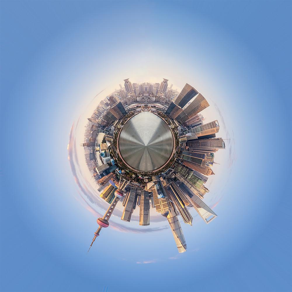 Petite planète avec Photoshop