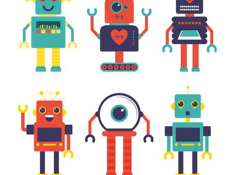 Les robots avec les outils géométriques dans Inkscape.