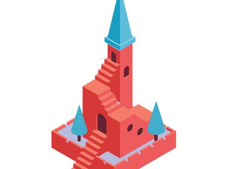 Un château en perspective cavalière