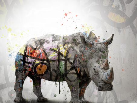 Graffiti abstrait sur Rhinocéros