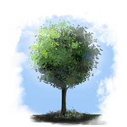 arbre heureux vert6