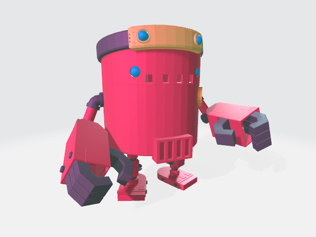 robot rouge b
