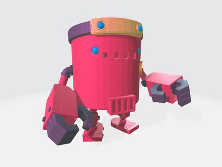 Encore un robot mais en 3D