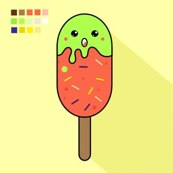 Doodle food Kawaii
