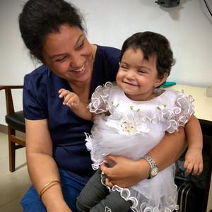 Sweet Little Girl at  Tilganga Eye Hospital in Nepal