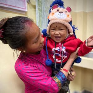 Happy Little Boy at Hetauda Community Eye Hospital in Nepal