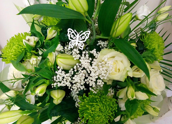 Lily & White Rose Bouquet