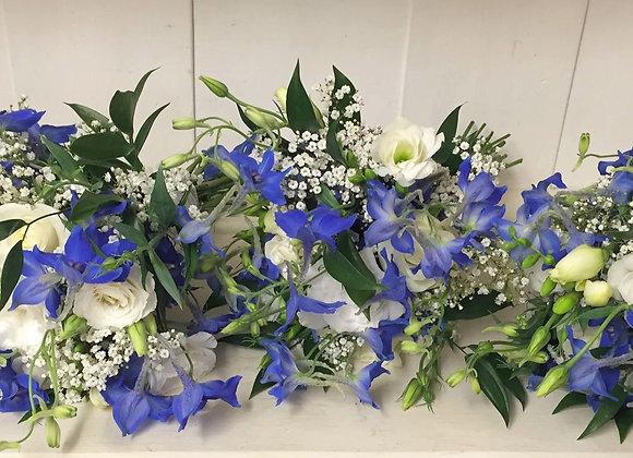 Royal Blue Delphinium Bridesmaid Bouquets