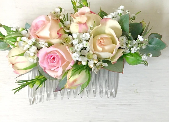 Dusted Rose Hair Clip