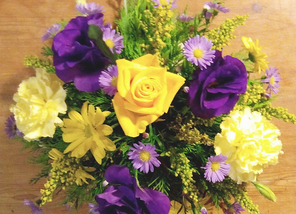 September Daisy & Purple Lisianthus Bouquet