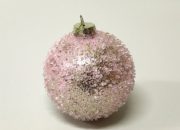 Large Pink Crystal Bauble