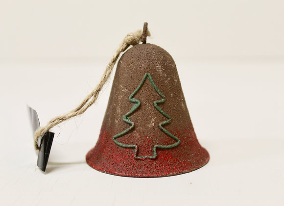 Rustic Metal Christmas Tree Bell