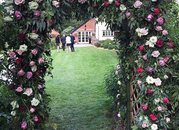 Pink Rose Archway