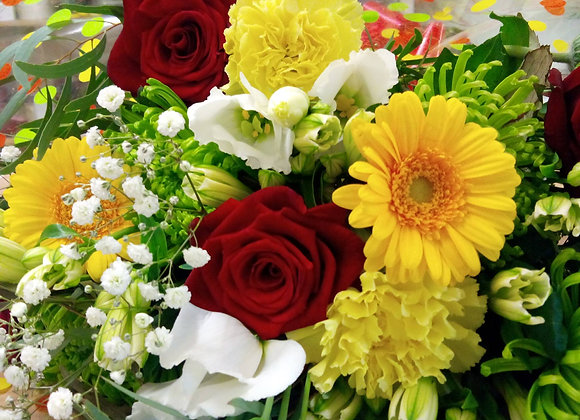 Mixed Yellow & Red Bouquet