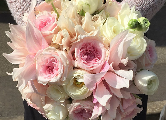 Sweetheart Pink Bridal Bouquet