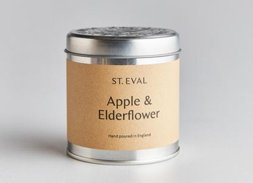 Apple & Elderflower Scented Tin Candle