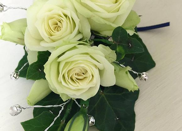 White Rose & Diamontes Body Corsage