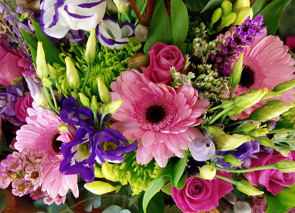 Gerbera & Lisianthus Bouquet