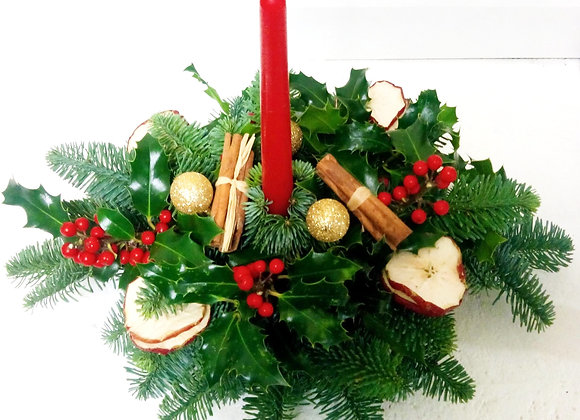 Christmas Red Table Arrangement