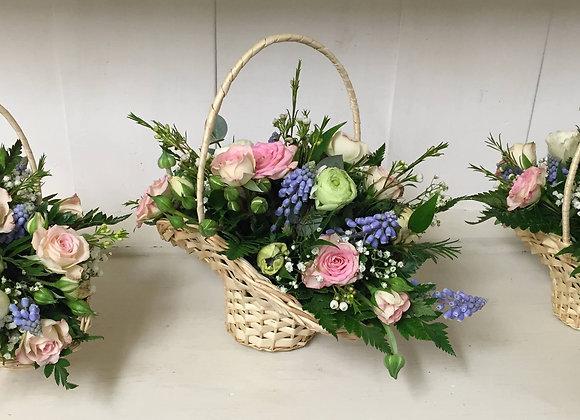 Spring Flower Girls Basket