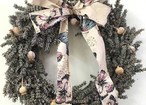 Lavender & Poppy Head Wreath