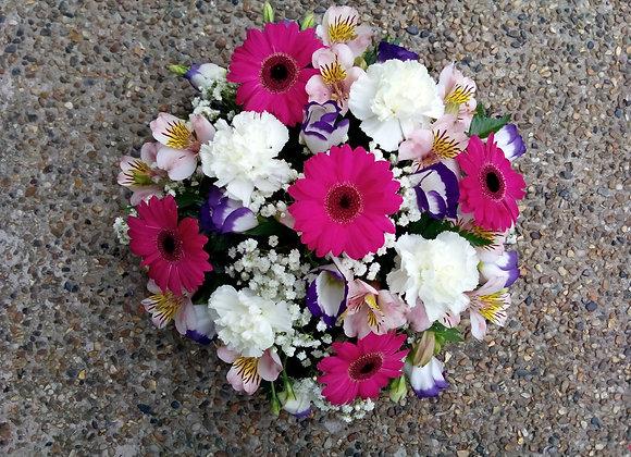 Pink & Purple Funeral Posy