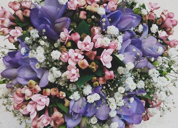 Bouvardia & Freesia Sensation Bridal Bouquet