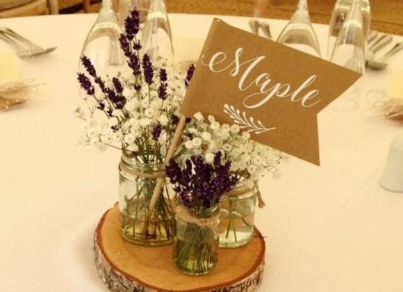 Lavender & Gypsophila Table Arrangement