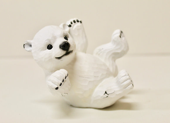 Wooden Playful Baby Polar Bear