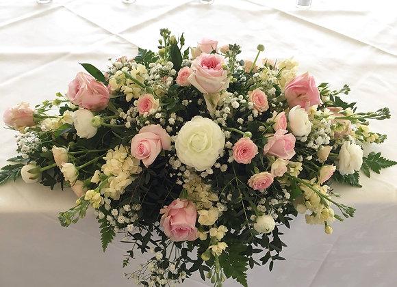 Mixed Rose Top Table Arrangement