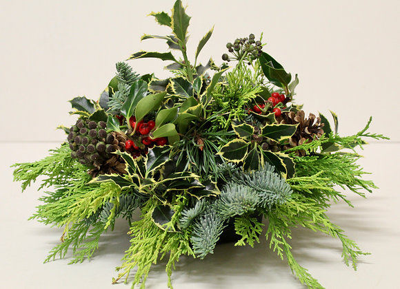 Small Christmas Grave Posy