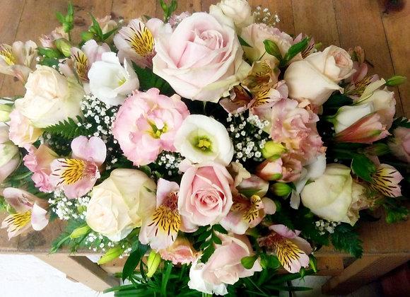 Pale Pink Rose & Lisianthus Bouquet
