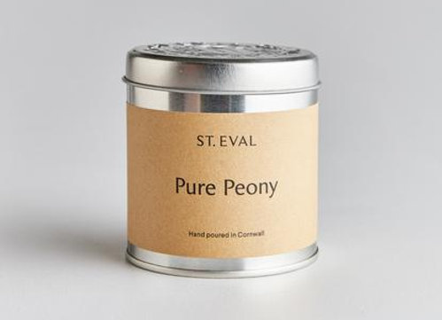 Pure Peony Scented Tin Candle