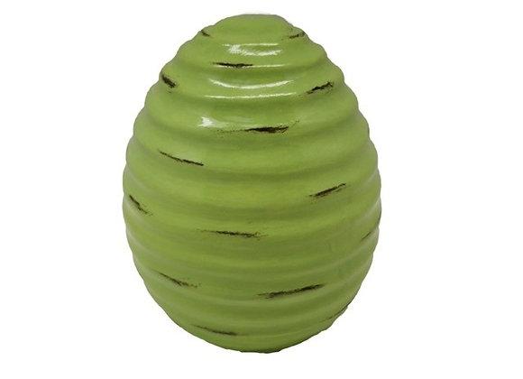 Green Ceramic Easter Egg